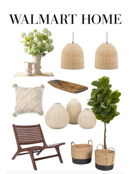 So many great home decor finds from Walmart! Vases, pillows, baskets and more. #Ad #WalmartHome  #LTKhome #LTKGiftGuide #LTKunder50