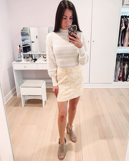 I had my eye on this sweater for a white. Such pretty feminine details! It also doesn't show a nude bra which is awesome. Love this dressed up or down.   #LTKunder100 #LTKworkwear #LTKSeasonal