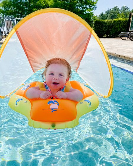 The best baby pool float on sale and on Amazon prime! Beckett loved relaxing in this! Can be on belly or on back and has the perfect shade to protect from the sun! http://liketk.it/3dNLw #liketkit @liketoknow.it #LTKbaby #LTKsalealert #LTKkids