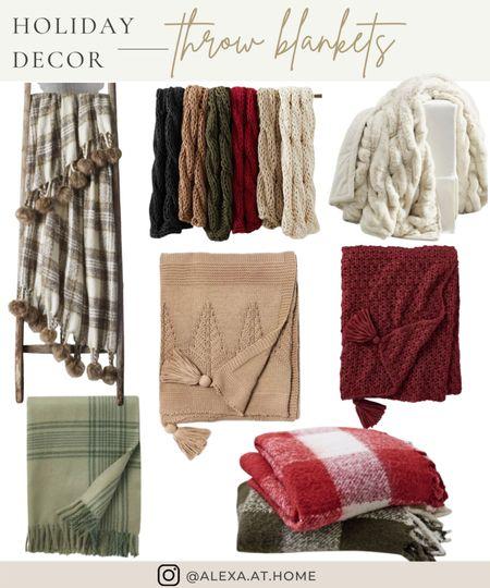 Holiday decor - throw blankets   Throw blankets, holiday throw blankets, winter throw blankets , cozy blankets , holiday blankets, Christmas blankets   #LTKhome #LTKHoliday #LTKSeasonal