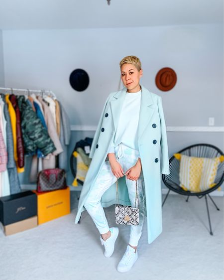 Tie Dye Joggers Pants set Mint coat Cozy Vibes  http://liketk.it/3703e #liketkit @liketoknow.it