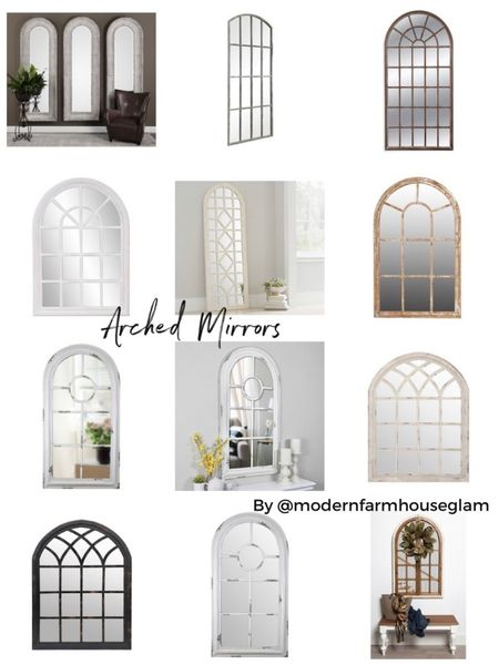 Arched mirrors, window pane mirror, full length mirror, home Decour, furniture, living room, entryway, modern farmhouse glam, Wayfair, Pottery Barn  http://liketk.it/3h7IH #liketkit @liketoknow.it #LTKDay #LTKhome #LTKsalealert @liketoknow.it.home You can instantly shop my looks by following me on the LIKEtoKNOW.it shopping app