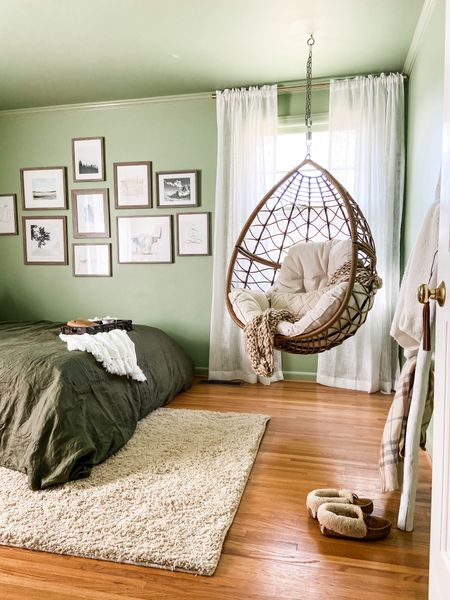 Here's some extra info on the guest room! Wall Color is Majolica Green by Sherwin-Williams #liketkit @liketoknow.it http://liketk.it/39vsS