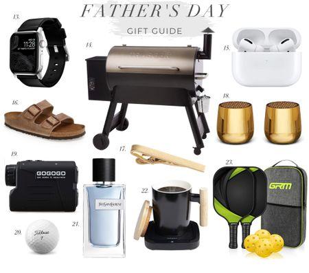 Father's Day Gift Guide! Traeger grill. Men's sandals. Pickle ball set. Cologne. AirPods. Men's watch. Tie bar. Golf.  #LTKmens #LTKSeasonal #LTKsalealert