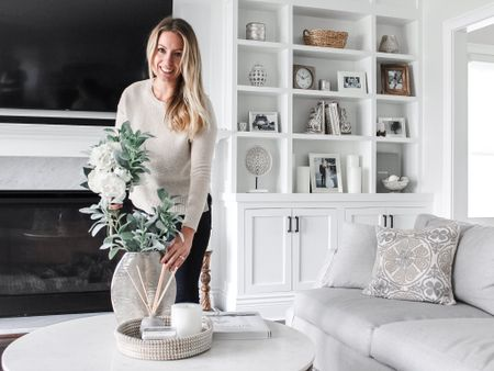 It is a rare occasion when my hair isn't up in a messy bun and I'm wearing something other than leggings. So naturally I took the opportunity to document it. I also wanted to share some of my favorite living room accent decor with y'all. Let me know if there's something you like that isn't linked! @liketoknow.it #liketkit http://liketk.it/2Zjkq