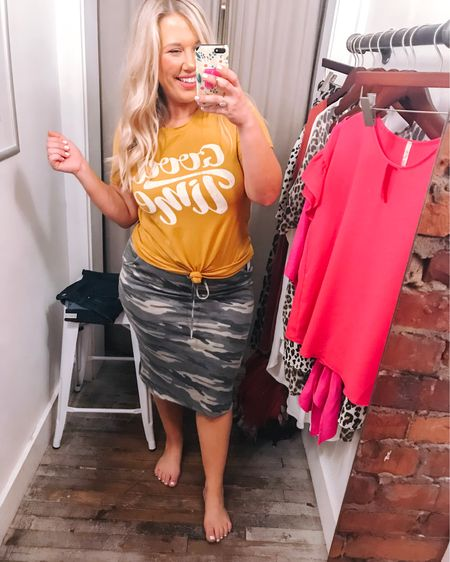 You can style a comfy graphic tee so many ways, and same with camo! It's fun to mix prints and colors. Entire outfit under $45. @liketoknow.it #liketkit http://liketk.it/2EgW5