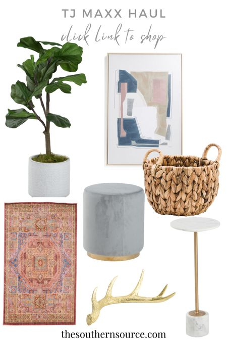 TJ MAXX HAUL!! Perfect finds for your home!! #rugs #stool #basket #painting #affordable #decor #homedecor #TJMAXX   #LTKunder100 #LTKhome