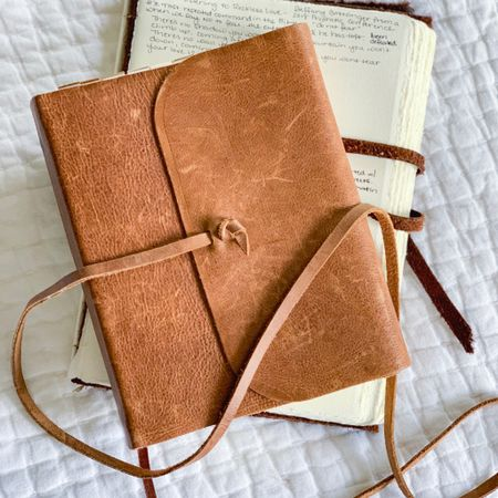 I'm always asked about my leather journal and journaling Bible. My journal is a handmade one I found in a shop in Italy but I'm linking a similar one I've purchased for friends, which is beautiful quality and handmade. I love the sharpie marker pens for writing in it! http://liketk.it/36r9C #liketkit @liketoknow.it