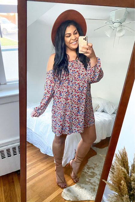 """Use code """"carlene15"""" for 15% off Shop Hopes ♥️ Dress: sold out but linked similar! Shoes: TTS + surprisingly comfortable, straps don't come down. #liketkit  @liketoknow.it #booties #falloutfit #fallootd #fallstyle #everydayoutfit #casualoutfit #curvystyle #plussize #LTKcurves #shophopes   #LTKFall #LTKunder50 #LTKshoecrush"""