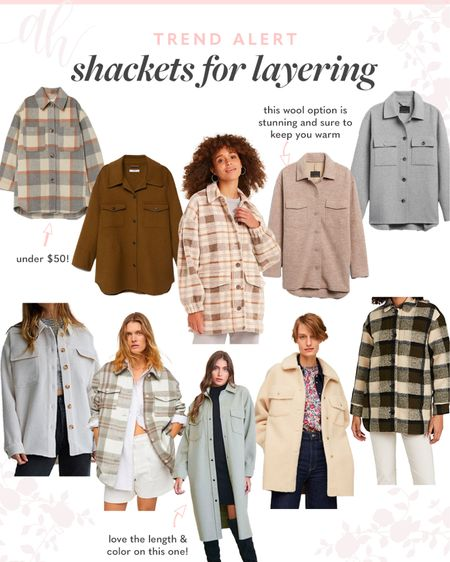 Shackets for every style, lightweight jackets, fall layers, plaid tops  #LTKeurope #LTKSeasonal #LTKstyletip