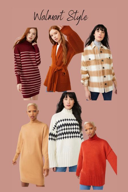 Walmart fashion finds  Shacket  Sweater dress  #ad #walmartfashion   #LTKSeasonal #LTKstyletip #LTKHoliday