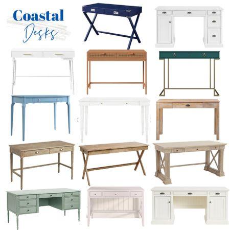 Coastal desk chairs for all budgets!    http://liketk.it/3k783 #liketkit @liketoknow.it @liketoknow.it.home #LTKhome #LTKsalealert #LTKunder100 wood desks, white desks, blue desks, coastal desks