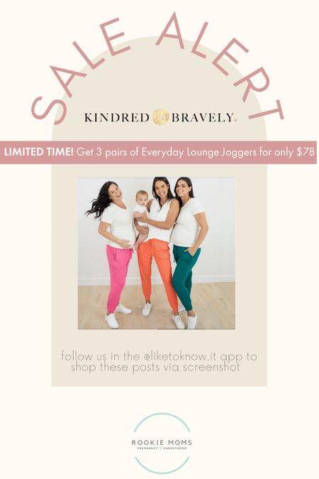 Kindred Bravely has the best joggers for mamas, we especially love the pockets! Get 3 for $78 until 6/21.   http://liketk.it/3hIuC #liketkit @liketoknow.it #LTKbump #LTKbaby #LTKsalealert Shop your screenshot of this pic with the LIKEtoKNOW.it shopping app @liketoknow.it.family