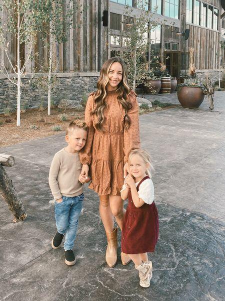 Fall family outfits fall dress toddler girl fall dress boys neutral fall outfit   #LTKSeasonal #LTKfamily #LTKkids