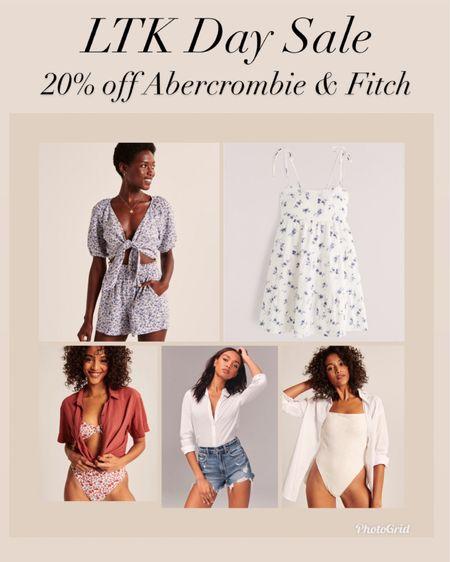 Last day to save 20% off on Abercrombie summer styles    #LTKsalealert #LTKunder100 #LTKday  http://liketk.it/3hx8e #liketkit @liketoknow.it    Abercrombie and Fitch  Spring style  Dresses  Spring dresses  Summer style  Vacation style  Jean shorts  Mom shorts  Denim shorts Bathing suits  Swimsuit Cover up  Swimsuit coverup
