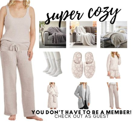 Barefoot Dreams look & feel a like! Sets, slippers, robes, blankets & more! At Sam's club, just check out as guest if not a member!   #LTKunder50 #LTKHoliday #LTKGiftGuide