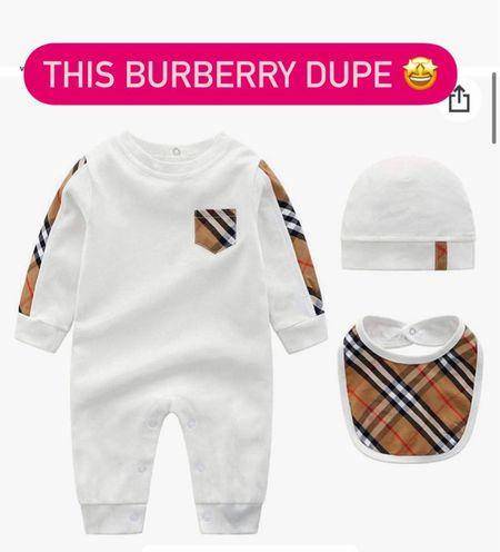 Baby Burberry dupe onesie amazon  #LTKunder50 #LTKfamily #LTKbaby