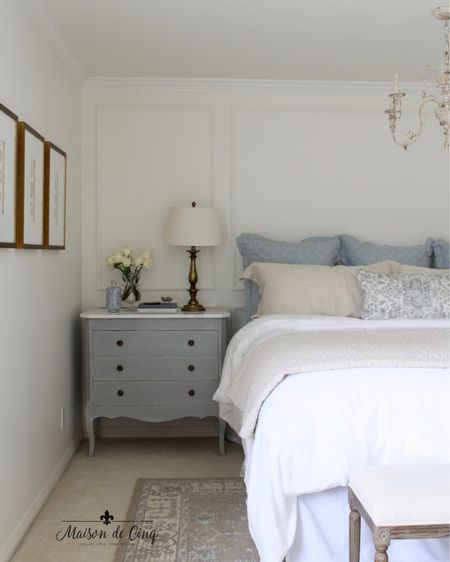 There's nothing like soothing peaceful colors in a bedroom @liketoknow.it #liketkit http://liketk.it/3ihm0 @liketoknow.it.home #LTKhome #LTKunder100 bluedecor blueandwhite bedroom masterbedroom bedroomdecor frenchcountry farmhousebedroom