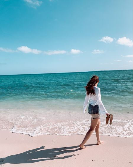 """My favorite affordable beach vacation finds 💕   For our honeymoon Ray & I headed south for a beautiful week on the beaches of Mexico. Since I knew we'd spend most of our week in swimsuits & coverups I packed a different one for each day which meant I needed to find affordable options!   I also knew that most days would be """"no makeup makeup days"""" so daily I wore my #tulasunscreen , #tulaprimer , #summerfriday lip balm & if I was wanted to be little more put together I'd throw on my #Ilia tinted serum. It was the perfect amount of coverage for laying by the pool without spending too much time or effort on it.   Linked you'll find a few of my favorites that I would highly recommend!   #affordablefinds #beachvaca #beachoutfits #swimsuits #coverups #affordableswimsuits #beachcoverups #vacationlooks #resortwear http://liketk.it/37Vou #liketkit @liketoknow.it #honeymoon #honeymoonoutfits #beachhoneymoon #poolmakeup #beachMakeup #NoMakeupMakeup #summermakeup #lakedaysmakeup"""