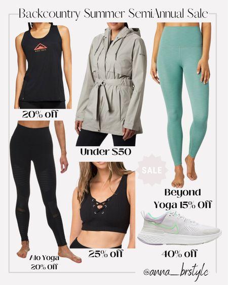 backcountry sale, Nike on sale, beyond yoga on sale, alo yoga on sale #anna_brstyle  #LTKsalealert #LTKfit