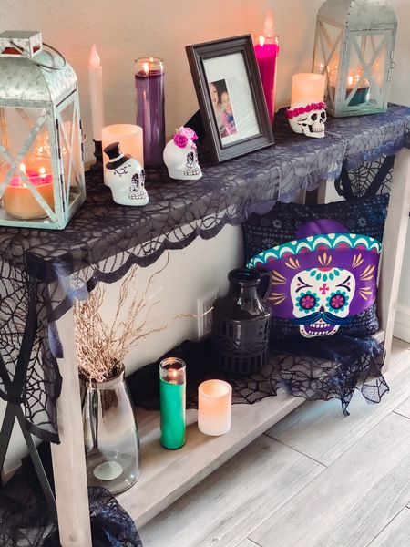 """#ad It's spooky season everyone 💀 this is my FAVORITE Time of the year. Walmart's Home Product line has some of the BEST Dia De Los Muertos decor! I love the beautiful and bright colors Walmart chose to use for their Sugar Skulls. The lanterns are perfect for turning any ordinary candle into a beautiful decorative item. The spider web style table runners add that extra """"spooky"""" touch to the entire ensemble! Walmart's home product line had more than what I needed and was easy to find either in store or online. Thanks to Walmart's beautiful, broad, and convenient assortment of Dia de Los Muertos decorations, serverware, and table top decor I was able to participate in this awesome tradition. #walmartHome  http://liketk.it/2Zu5m #liketkit   Screenshot this pic to get shoppable product details with the LIKEtoKNOW.it shopping app @liketoknow.it"""