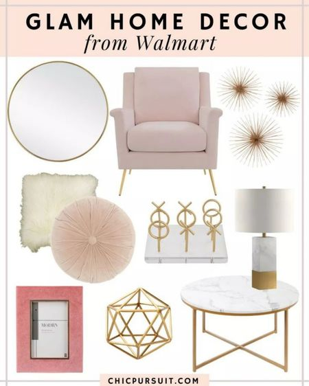 Obsessed with this glam decor from Walmart!!! Seriously the cutest furniture, accent chairs, lamps, pillows, and decor!!! And all for amazing prices!!! 💕💕💕 #liketkit @liketoknow.it #LTKhome   #LTKstyletip http://liketk.it/3gutT