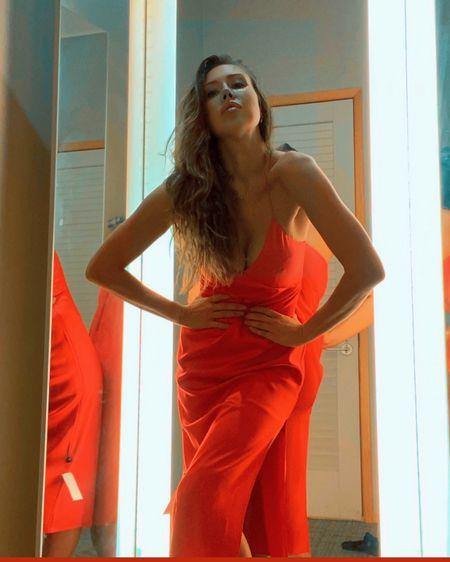 Red slip dress (+ black, blue) http://liketk.it/30dj8 #liketkit @liketoknow.it #LTKstyletip #LTKsalealert Shop your screenshot of this pic with the LIKEtoKNOW.it shopping app