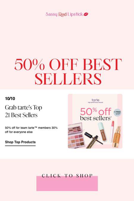 Last day of the Tarte sale! 50% off all my favs!   #LTKunder50 #LTKsalealert #LTKbeauty