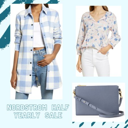 I have got to say, that plaid oversized button up is my favorite from this little grouping. But how perfect is it paired with that bag too? I love everything I'm finding from the Nordstrom Half Yearly Sale 💙 #nordstrom #salealert #nordstromsale #nordstromhalfyearlysale #blue #plaid #bagcrush #deal #LTKstyletip #LTKsalealert #LTKitbag #liketkit @liketoknow.it http://liketk.it/3gZaa