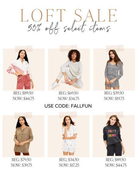 LOFT has up to 50% off select items! Use code: FALLFUN   #LTKsalealert #LTKunder50 #LTKSeasonal
