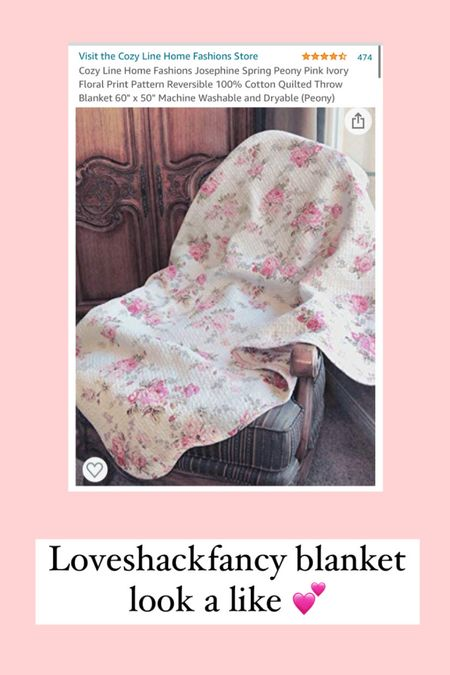 Loveshackfancy blanket Amazon splurge vs steal picnic blanket cottage core floral blanket girly bridgerton   #LTKhome #LTKSeasonal #LTKunder50