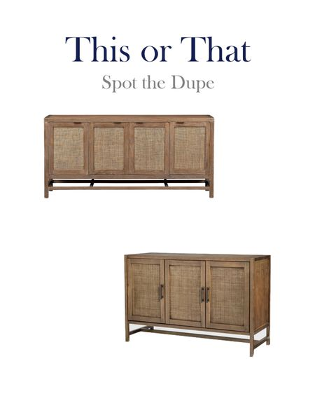 This or that, high and low dupe finds for a woven door media cabinet    #LTKhome