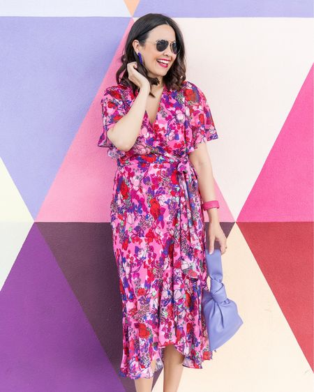 This gorgeous designer summer floral dress is on sale!   Plus these are my favorite versatile everyday aviator sunglasses - and they are under $100.   Furthermore, be sure to check out this bracelet / cuff. I have it in every color of the rainbow and wear one daily.     #LTKunder100 #LTKsalealert #LTKSeasonal