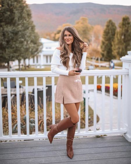 The Ella Suede Skirt with Side Slit Tan  XS, TTS, cmcoving, Caitlin Covington, Pink Lily Collection, fall fashion, use code CAITLIN20 for 20% off!   #LTKunder50 #LTKSeasonal #LTKsalealert