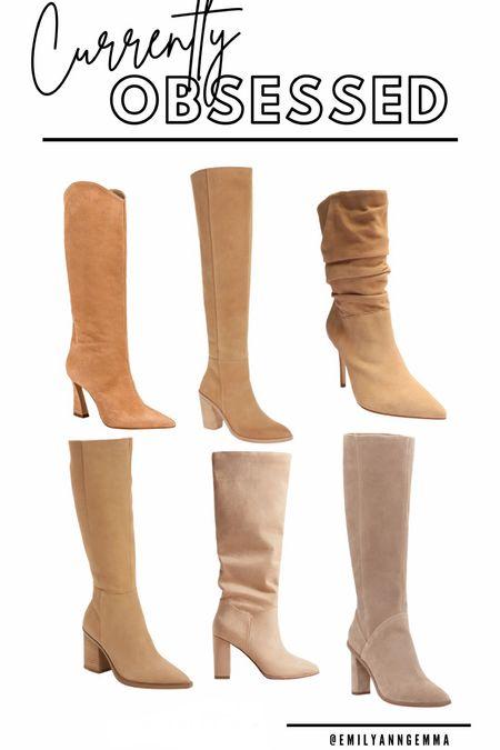 Fall boots, Tall Boots, Tan Boots, Fall Boot Inspiration, Fall Fashion, Fall Outfit, Emily Ann Gemma, Schutz boots, express boots, Nordstrom boots, Emily Ann Gemma   #LTKshoecrush #LTKstyletip