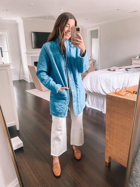 Denim quilted coat 🙌🏻 wearing a medium