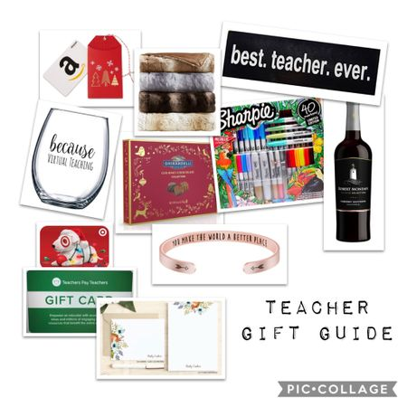 I get asked every year for gift ideas for teachers. Trust me when I say, wine is totally appropriate and very welcomed. 😉 I also love appreciative statements and personalized gifts. Truthfully, us teachers really do spend a lot of our own money on classroom supplies and activities. It's not that we don't get a budget from our districts, it's just that the needs of our classrooms tend to go beyond that. So a gift card to places like Amazon and Teachers Pay Teachers are showing teachers how much you appreciate them and it's helping out the classroom too!  I hope this teacher's gift guide helps you!   #liketkit http://liketk.it/323k5 @liketoknow.it Screenshot this pic to get shoppable product details with the LIKEtoKNOW.it shopping app. Links are also available in my profile!