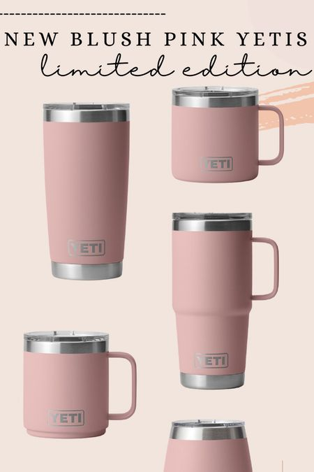 Blush pink yeti mugs are now available - limited edition & would make a great gift!  #LTKGiftGuide