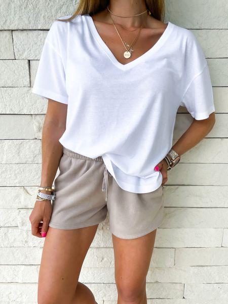 Lounge shorts in Xs white tee in Xs code AFBELBEL   #LTKsalealert #LTKunder100 #LTKstyletip