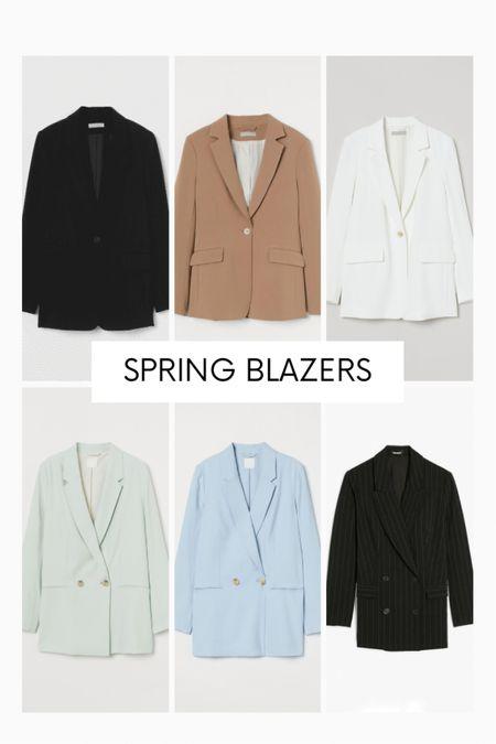 Sharing some spring blazers from Express and H&M 🌸✨ http://liketk.it/3bjKt #liketkit @liketoknow.it #LTKunder100 #LTKworkwear #LTKstyletip camel blazer, black blazer, white blazer, cream blazer, blue blazer, mint blazer, striped blazer.