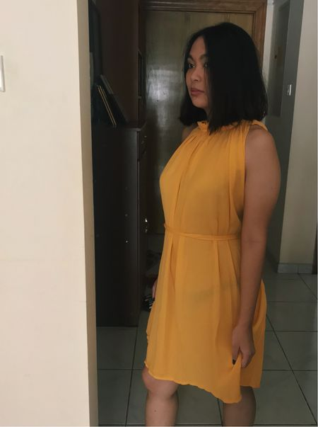 Hope you having a good day! I'm wearing today Basic Yellow Halter neck dress swoon..  #rStheCon #LTKstyletip #LTKfit