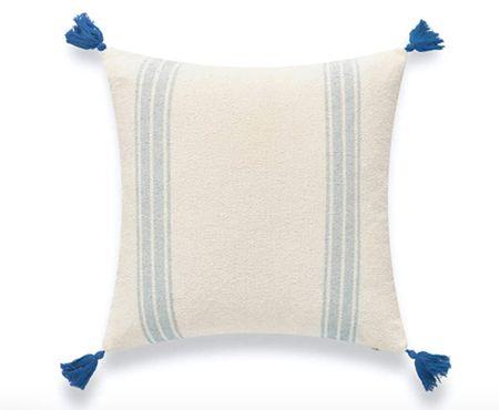 Blue throw pillow, throw pillow