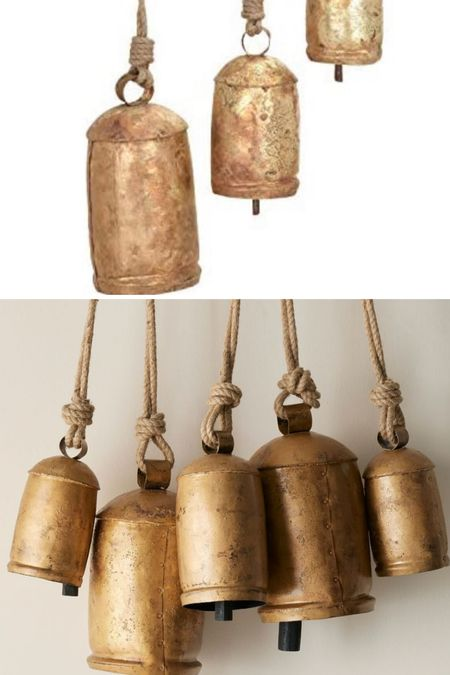 Save vs splurge!  $29 for set of 3 vs $199 for set of 5  These gorgeous Vintage Christmas bells are perfect for holiday decorations!   #LTKunder100 #LTKHoliday #LTKhome