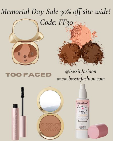 http://liketk.it/3gys3 Too face! 30% off this weekend!!! Are you ready? I love their bronzers and foundation!!! Shop the special for memorial day sale!!!! You can instantly shop my looks by following me on the LIKEtoKNOW.it shopping app #LTKstyletip #LTKsalealert http://liketk.it/3gq74 #liketkit @liketoknow.it @liketoknow.it.home Follow me on the LIKEtoKNOW.it shopping app to get the product details for this look and others #toofaced #makeup #beauty #bronzer #mua