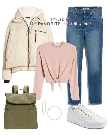 Nordstrom anniversary sale casual fall outfit. Casual fall outfit with jeans and quilted jacket, white sneakers and olive backpack. #nsale #nordstrom #nordygirl #falloutfit #casualoutfit   http://liketk.it/3jucF #liketkit @liketoknow.it   #LTKunder100 #LTKstyletip #LTKsalealert