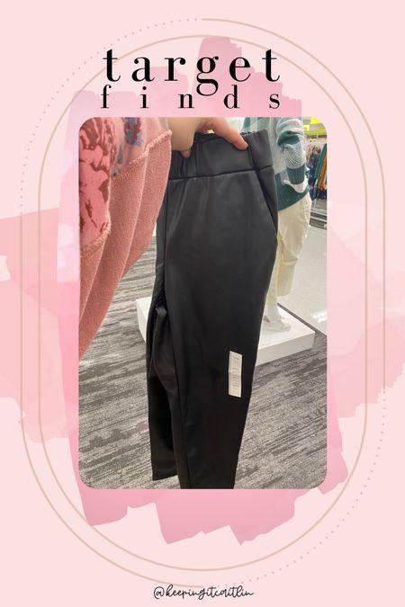 Faux leather pants under $50   #LTKstyletip #LTKunder50