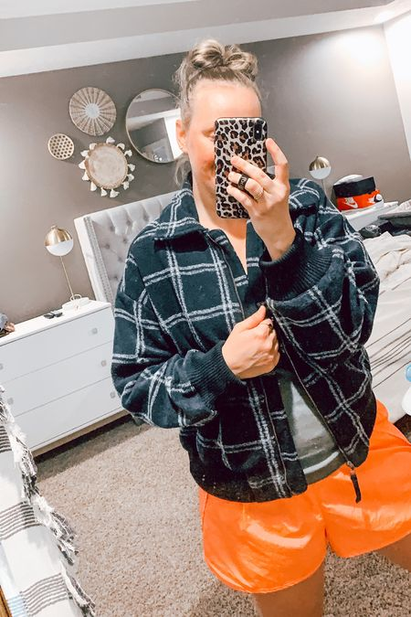 Flannel lined bomber jacket from target! So good! Only $40!  Comes in this black plaid or pink plaid!    Plaid jacket // bomber jacket // fall outfit // fall outfits // lined jacket // fall jacket // maternity outfits // fall family photo // fall wedding // plus size fashion // Target style // Target fashion // Target finds // wild fable // universal thread // Target jacket   #LTKstyletip #LTKunder50 #LTKGifts