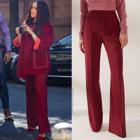 Meghan wearing Loro Piana pants #work #pants   #LTKstyletip #LTKtravel