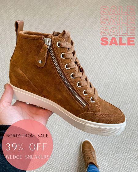 Nordstrom Sale // Wedge Sneakers size up 1/2   Nordstrom Shoes Wedge Sneakers  #LTKsalealert #LTKstyletip #LTKshoecrush