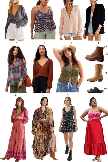 Boho fall maxi dress, plus size fall wedding guest dresses, boho chic fall tops, shoes and more in my cart! #ltkfall   #LTKcurves